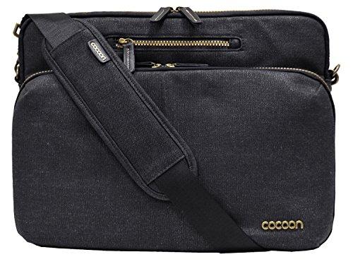 """Cocoon URBAN ADVENTURE - 13"""" Laptop Messenger Bag mit Organisationssystem / Umhängetasche für Laptops / Integrierter Handriemen / Schultertasche für Laptop / Wasserabweisend / Schwarz - 13"""" Zoll"""