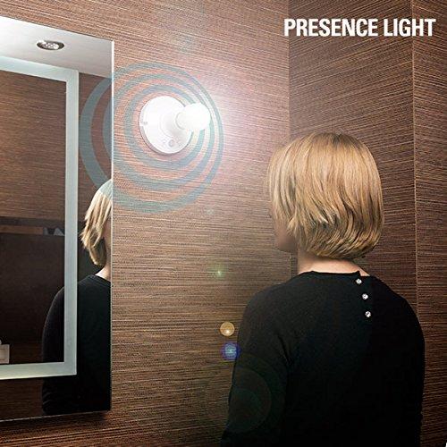 Presence Light Bulb Motion Portabombillas con Sensor, Blanco, 13 x 7 cm