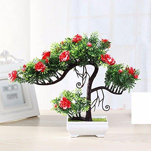 GBHNJ Artificial Flower GBHNJ Faux Fleurs Cadeau Table Basse Gala Simulation Plantes En Pot Decoration Plastique Plantes Rouge Jasmine