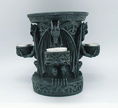 statuettedeco - Bougeoir triple dragons gothiques