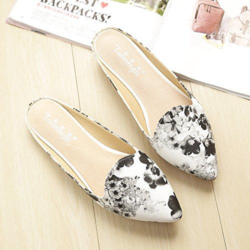 & QQ Flache Schuhe, rutschsicheren Erbsen, SANDALEN Lazy Schuhe, Mode Schuhe 39