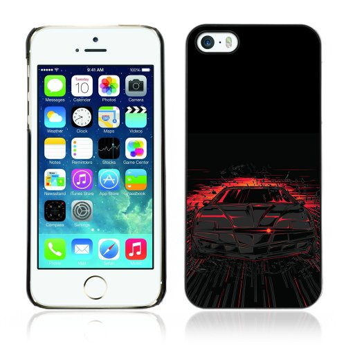 Image of Coverup Center Premium Printing Hard Case Skin Cover for Apple iPhone 5 / 5S - Cool Knight Rider Illustration KITT