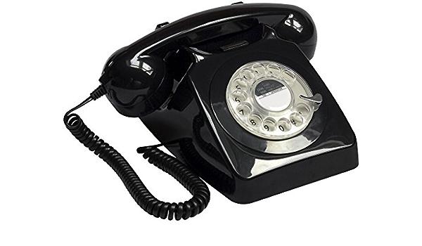 Telefon Retro Vintage 70er Jahre Schwarz Küche Haushalt