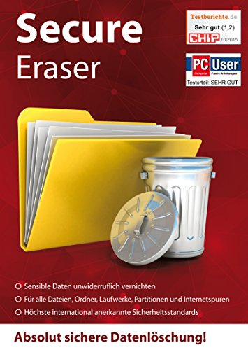 Secure Eraser - Festplatten, Daten, Dokumente, Ordner sicher Löschen und Formatieren - sichere Datenlöschung für Windows 10 / 8.1 / 7 / Vista und XP - - Löschen Festplatte