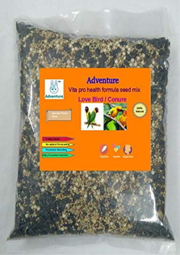 Adventure Vita Pro Health Formula Seed Mix (Breeding Formula) for African Lovebirds Conure African Grey Cockatoo Macaw and Other Parrots