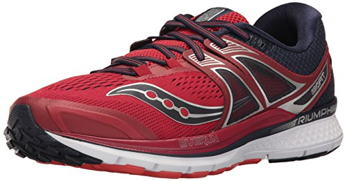 Saucony Triumph ISO 3, Training Shoes for Men, Red (Red / Navy), 42 EU