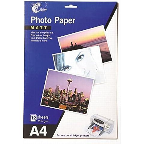 24Hojas de papel fotográfico MATT A4/2paquetes de 12