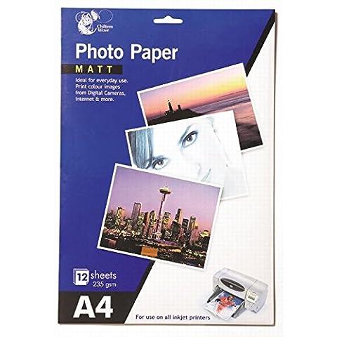 Lot de 24feuilles de papier photo mat A4 2 paquets de 12