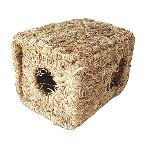 Dream-cool Coniglio Grass House Nido di Erba di Criceto Durevole Tunnel di Erba Intrecciata a Mano Capanna Nido per Dormire per Coniglio Criceto Cincillà Cavia e Altri Piccoli Animali Pretty Well