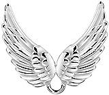 Nenalina Charm Träger für Damen Halskette mit zwei Engelsflügel, für alle gängigen Charms in 925 Sterling Silber, 876044-000