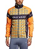 Jolly Wear Herren Fahrrad Winterjacke Funktions mit Winddichter Membran Tweed, Orange, XXXXL, GIUB_TWEED_ARA
