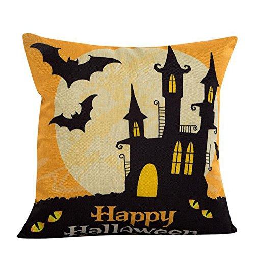 Fablcrew custodia di cuscino nuova casa divano cuscini halloween zucca festiva lingerie di lino 45* 45cm