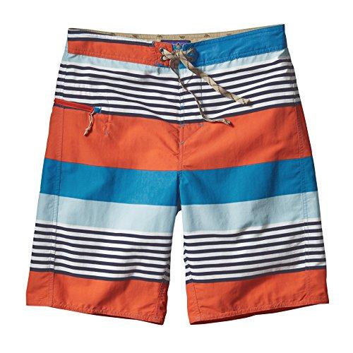 Patagonia–Pantaloncini da uomo Printed Wavefarer Board Fitz Stripe: Catalyst Blue
