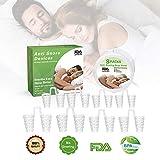 Poscoverge Schnarchstopper Anti Schnarch Premium Nasenklammer 8 Nasendilatatoren Einfache Schlaflösung für Schlafapnoe Entspannung Atemhilfen für nasale Kongestion für Reise, Schlaf, Büro