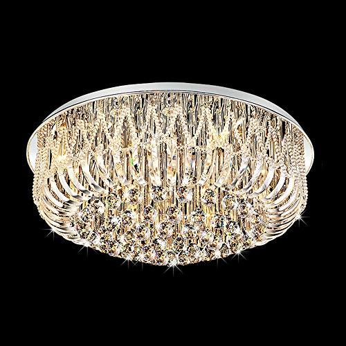 GWDJ Saug Deckenleuchte Wohnzimmer Lampe Kristall Lampe Runde Deckenleuchte Moderne minimalistische Atmosphäre Home Luxus Schlafzimmer Lampe Restaurant High-End-Lampen Saug Deckenleuchte-