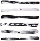 Nike Elastic Hairbands Cintas para el Pelo, Unisex, N.JN.65.964.OS, Negro/Blanco, 0