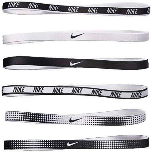 Nike Erwachsene Elastic Hairbands Haarbänder, White/Black, 0 -
