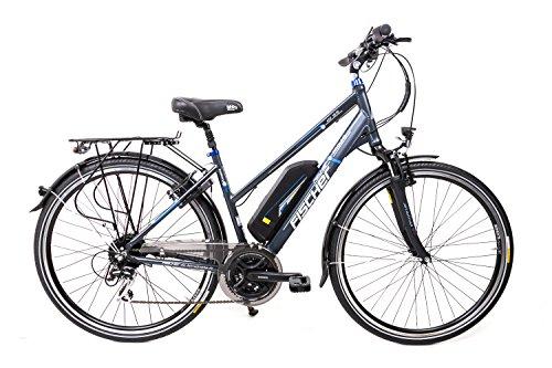 "28\"" Zoll FISCHER Elektro Fahrrad E-Bike Pedelec Trekking Shimano 24 Gang 48V Damen Bike"