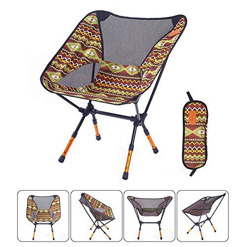 Dasgf sedia pieghevole da campeggio,sedia pieghevole da spiaggia,pieghevole piccolo mazza,colorata regolabile,ideale per il campeggio/escursionismo/viaggi/caccia/pesca,brown