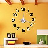 Soledi Wall Clock Modern DIY 3D Sticker Number Framless Clock Home Office Decoration