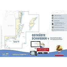 Sportbootkarten Satz 11: Ostküste Schweden 1 (Ausgabe 2017/2018): Simrishamn bis Mem mit Gotland und Öland