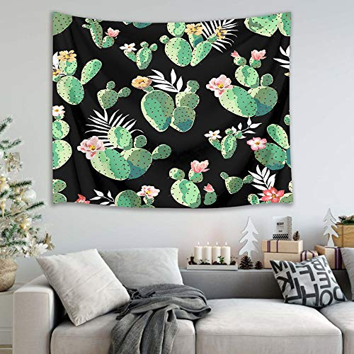 mmzki Nordic Cactus Tree Flower Strandtuch Tapisserie 6 150x100cm