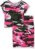 jolly rascals Girls Neon Skirt and Crop Top Set Viscose Crew Neck - Short Sleeves - Machine Washable - Camouflage - Summer