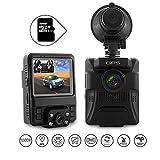Dashcam Autokamera Dual Lens 1080P FHD Dashcamera DVR WDR GPS G-Sensor Bewegungserkennung Schleifenaufnahme Parkmonitoring Nachtsicht (32GB Micro SD-Karte inklusive)By Ironpeas