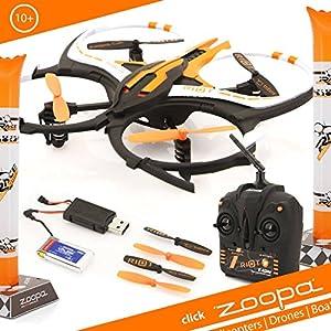 zoopa Q 165 riot Race-Quadro - Tritt an zum Rennen gegen deine Freunde    inkl. 2,4GHz Fernsteuerung   Licht   360° Flipfunktion   3 Geschwindigkeiten (ZQ0166)   Lieferung aus Deutschland