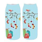 BHYDRY Socken Unisex Christmas Funny 3D Fashion Casual Socken gedruckt Niedliche Low Cut Söckchen NR.4(C,Kostenlos)