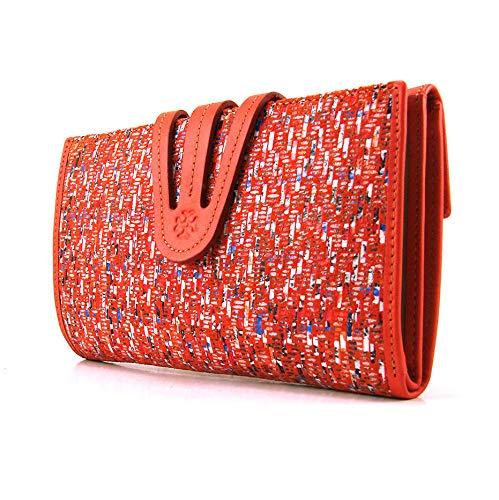 Geldbörse Damen handmade Spain, Frauen Brieftasche, damen portemonnaie, damen geldbeutel, casanova Marke, gemacht aus Haut, Ref. 23818 Orange
