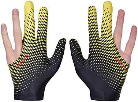 eNice Billiards Gloves Snooker Gloves Pool Cue Gloves Elastic Lycra 3 Fingers Show Gloves Wear on the Right or Left Hand For Men or Women