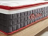 Relita Matratze Fiala mit Topper Tonnentaschen Federkern 90x200 cm
