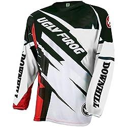 BurningBikewears Uglyfrog Racewear Manga Larga Downhill Jersey DH/Am/XC/FR/MTB/BMX/Moto Enduro Offroad Ropa Bicicleta de Montaña