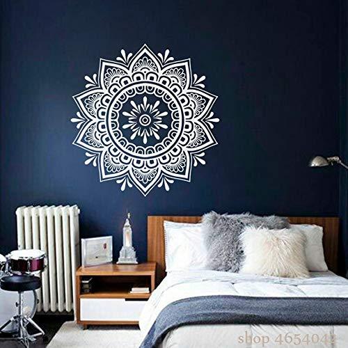 Mandala Adesivo Boho Yoga Adesivi Murali Per Camera Da Letto Fiore Arte Murale Bohemien Rimovibile Casa Soggiorno Decor A11 57 * 57 CM