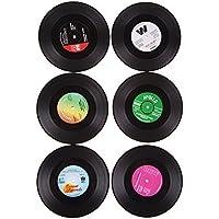 Everpert 6pcs utile en vinyle Dessous de Verre Tasse Porte-gobelet Tapis de table Set de table