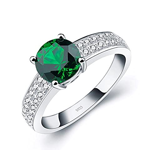 ANGG Frauen Kissen Grün erstellt Smaragd 925 Sterling Silber Hochzeit