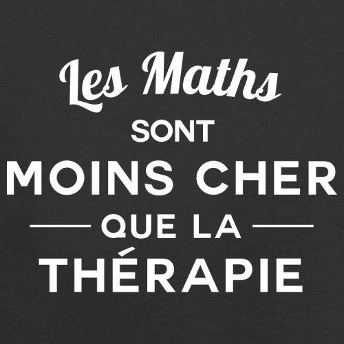Les maths sont moins cher que la thérapie - Femme T-Shirt - 14 couleur Noir