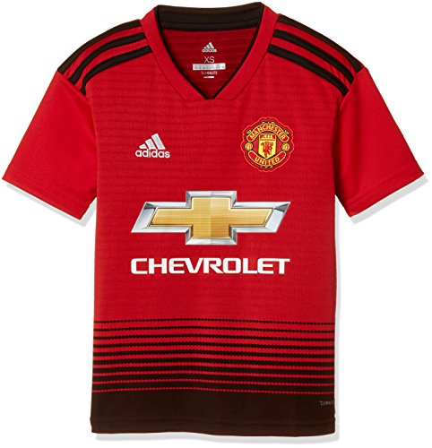 adidas Kinder 18/19 Manchester United Home Trikot, real red/Black, 176 EU -
