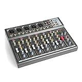 Vonyx VMM-F701 Mesa de mezclas 5 Entradas mono de línea y micrófono Entrada/Salida estéreo de línea
