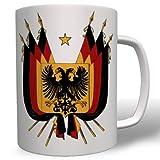 Deutschland Flagge Fahne Land BRD Schwarz Rot Gold- Tasse Kaffee Becher #16588