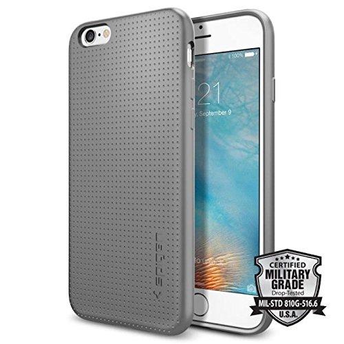 Spigen Capsule - Funda iPhone 6s, Carcasa Durable Flex y diseño Easy Grip, Gris