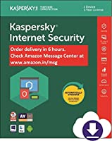 Kaspersky Internet Security 2018 - 1 PC, 1 Year (Email Delivery in 2 hours- No CD)