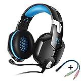 KOTION EACH GS600 Pro PC Gaming Headset Auriculares Estereo con Microfono para Xbox 360 / PS3 / PS4 / PC Computer Laptop / Teléfonos Móviles(Azul)