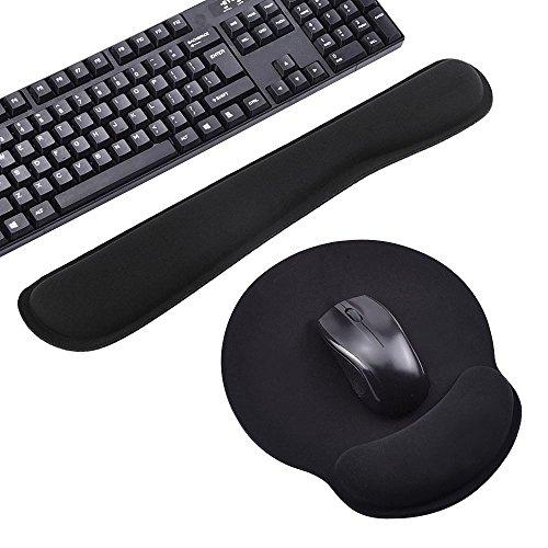 Mauspad und Tastatur-Pad im set Maus Handballenauflage Auflage Handgelenk Unterstützung Ergonomische Handgelenkpolsterträger...