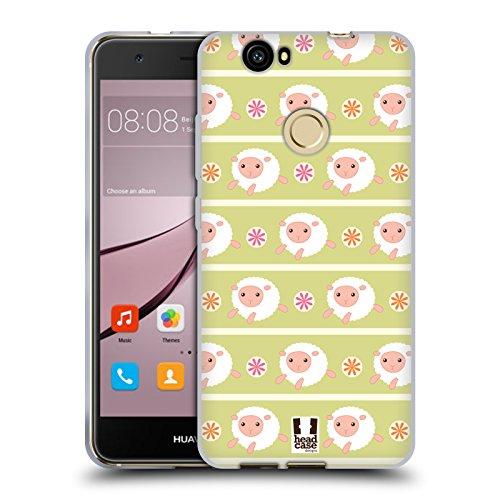 Head Case Designs Schaf Putzige Tiermuster Soft Gel Hülle für Huawei Nova