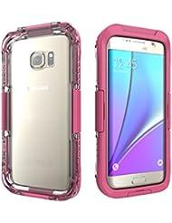 Aohang Coque Galaxy S7 EDGE Super étui imperméable à l'eau étui pour Galaxy S7 EDGE pouces Extrêmement imperméable à l'eau anti-choc dernières mises à jour case Galaxy S7 EDGE pour la natation, la plongée, le ski, etc.