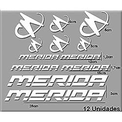 Ecoshirt M2-Q8TD-IXJ5 Pegatinas Merida R63 Vinilo Adesivi Decal Aufkleber Клей MTB Stickers Bike, Blanco