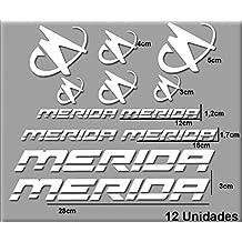 PEGATINAS MERIDA R63 VINILO ADESIVI DECAL AUFKLEBER КЛЕЙ MTB STICKERS BIKE (BLANCO)