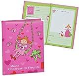 Unbekannt Meine Kindergarten Freunde Buch - Prinzessin Schmetterlinge für Mädchen - Dick Gebunden für Kindergartenfreunde Poesie A5 Hardcover - Freundebuch Poesiealbum Kinder